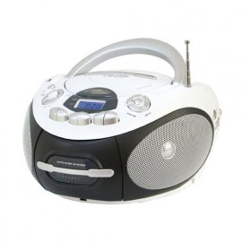 AH2387MP3USBWH RADIOREG. CD/MP3/USB/CASSETTA LCD PORTATILE BIANCO venduto su Radionovelli.it!