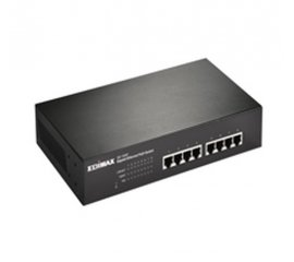 Edimax GS-1008P switch di rete Non gestito Gigabit Ethernet (10/100/1000) Nero Supporto Power over Ethernet (PoE)