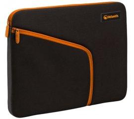 "ATLANTIS LAND SLEEVE UNIVERSALE PER TABLET FINO A 7"" NEOPRENE TASCA LATERALE PER ACCESSORI COLORE NERO + ZIP ARANCIO"