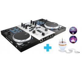 Hercules Air S Party Pack controller per DJ Nero, Argento 2 canali