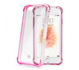 CELLY iPHONE 5/5S/SE COVER RIGIDA IN TPU TRASPARENTE CON BORDO ROSA