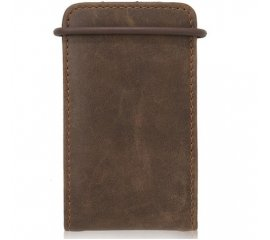 XtremeMac Brown MicroWallet Leather for iPod nano