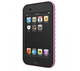 XtremeMac TuffWrap for iPod touch, Black/Pink Nero, Rosa Silicone