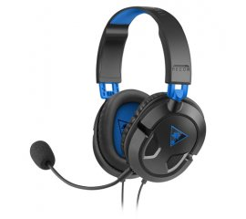 KOCH MEDIA RECON CUFFIE CON MICROFONO GAMING CAVO 1.5MT JACK 3.5MM COLORE NERO/BLU