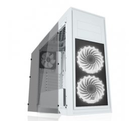 ITEK TITAN 05 ADVANCED CASE MIDI-TOWER GAMING VENTOLE 3x12CM (2 VENTOLE LED RGB) FINESTRA TRASPARENTE COLORE WHITE