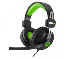 SHARKOON RUSH ER2 CUFFIE GAMING CON MICROFONO CAVO 1.1MT 2xJACK 3.5MM COLORE NERO/VERDE