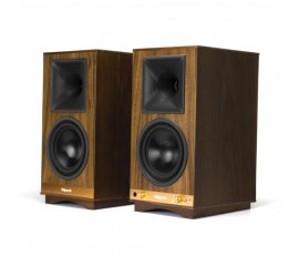 Klipsch The Sixes - Walnut altoparlante 100 W Nero, Noce Con cavo e senza cavo 3.5mm/Bluetooth
