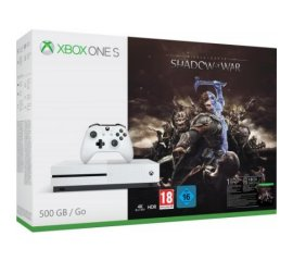 Microsoft Xbox One S + Middle-earth: Shadow of War Bianco 500 GB Wi-Fi