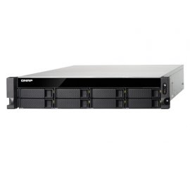QNAP TS-853BU-RP NAS RACK (2U) ETHERNET LAN BLACK - NAS & STORAGE SERVERS (HDD, SSD, SERIAL ATA III, 0, 1, 5, 6, 10, JBOD, FAT32,HFS+,NTFS,EXT3,EXT4, INTEL® CELERON®, J3455)