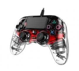 NACON PS4OFCPADCLRED periferica di gioco Gamepad PlayStation 4 Analogico/Digitale Rosso, Trasparente