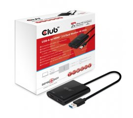 CLUB3D USB A to HDMI? 2.0 Dual Monitor 4K 60Hz