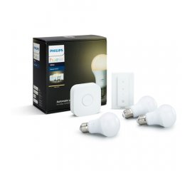 PHILIPS 929001137061 STARTER KIT HUE BRIDGE + TELECOMANDO DIMMER WIRELESS + 3 LAMPADINE COLORE WHITE