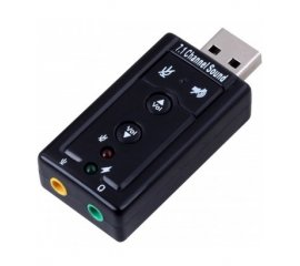 Ewent EW3762 cavo di interfaccia e adattatore USB audio-in/audio-out Nero