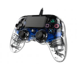 NACON PS4OFCPADCLBLUE periferica di gioco Gamepad PlayStation 4 Analogico/Digitale Blu, Trasparente