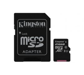 KINGSTON CANVAS SELECT 256GB MICRO SDHC CLASSE 10 UHS-I + SD ADATTATORE