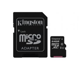 KINGSTON CANVAS SELECT 64GB MICRO SDHC CLASSE 10 UHS-I + SD ADATTATORE