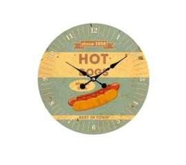 SCATTO OROLOGIO DA MURO HOT DOG 34CM