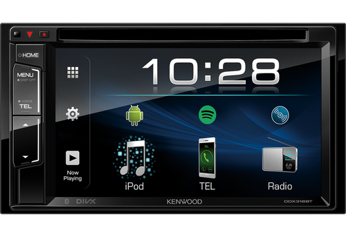 Kenwood DDX318 BT Ricevitore multimediale per auto Nero 22 W Bluetooth 2