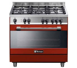 Tecnogas PTV998RS cucina Piano cottura Rosso Gas A