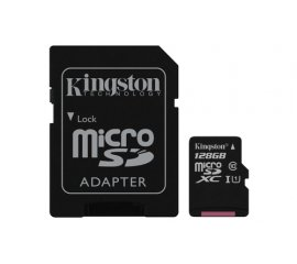 KINGSTON CANVAS SELECT 128GB MICRO SDHC CLASSE 10 UHS-I + SD ADATTATORE