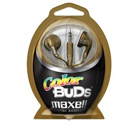 Maxell Colour Budz Headphones Gold Cuffia Blu, Porpora