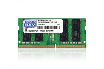 GOODRAM GR2133S464L15/8G MEMORIA RAM 8GB 2.133 MHz TIPOLOGIA SO-DIMM TECNOLOGIA DDR4