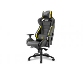 Sharkoon SHARK ZONE GS10 Sedia da gaming per PC Seduta imbottita Nero, Giallo