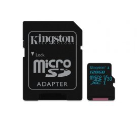 KINGSTON CANVAS GO MICRO SD XC 128GB CON ADATTATORE SD