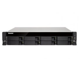 "QNAP TS-873U-RP-8G NAS CHASSIS RACK 8 BAY HHD/SSD FOMRATO 2.5""/3.5"" INTERFACCIA SATA III ITALIA COLORE BLACK"