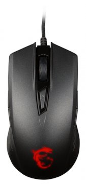 MSI CLUTCH GM40 MOUSE OTTICO GAMING 5000DPI 9 TASTI AMBIDESTRO COLORE NERO (S12-0401340-D22)