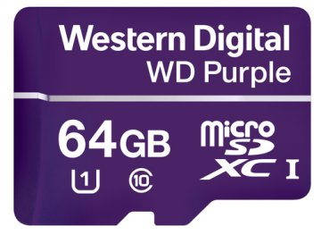 WESTERN DIGITAL WD PURPLE 64GB MICRO SDHC CLASSE 10