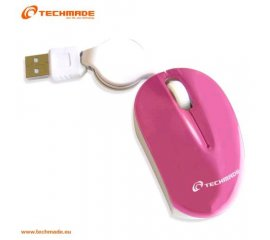 TECHMADE TM-XJ18-PINK MINI MOUSE OTTICO USB CON CA