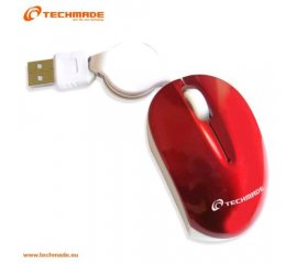 TECHMADE TM-XJ18-RED MINI MOUSE OTTICO USB CON CAVO RETRATTILE RED
