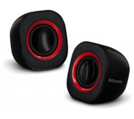 Atlantis Land SoundPower 410 1-via 5 W Nero, Rosso Cablato