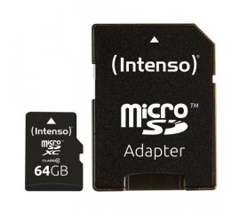 Intenso 64GB MicroSDHC memoria flash Classe 10