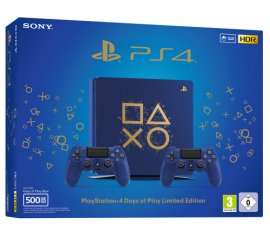 Sony PS4 500GB E + 2 DS4 Days of Play Limited Edition Blu Wi-Fi