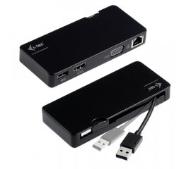 i-tec U3TRAVELDOCK replicatore di porte e docking station per notebook Cablato USB 3.0 (3.1 Gen 1) Type-A Nero