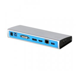 i-tec Metal U3METALDOCK replicatore di porte e docking station per notebook USB 3.0 (3.1 Gen 1) Type-B Nero, Blu, Argento