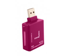 URBAN FACTORY CHIAVETTA LETTORE MEMORY CARD ROSA INTERFACCIA USB 2.0