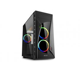 SHARKOON NIGHT SHARK RGB CABINET TOWER MIDI ATX BLACK