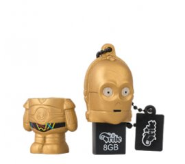 Tribe C-3PO unità flash USB 8 GB USB tipo A 2.0 Nero, Bronzo