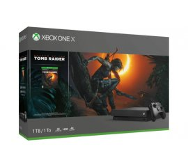 MICROSOFT XBOX ONE X 1.000GB COLORE NERO + SHADOW OF THE TOMB RIDER VERSIONE ITALIANA