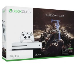 MICROSOFT XBOX ONE S 1TB WHITE + SHADOW OF WAR