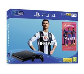 Sony PlayStation 4 Slim 1TB + 2x DUALSHOCK 4 + FIFA 19 Nero 1000 GB Wi-Fi