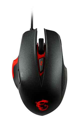 MSI INTERCEPTOR DS300 mouse USB Laser 8200 DPI Mano destra 2