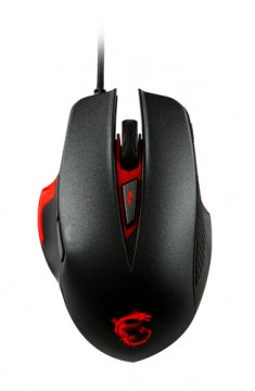 MSI INTERCEPTOR DS300 mouse USB Laser 8200 DPI Mano destra