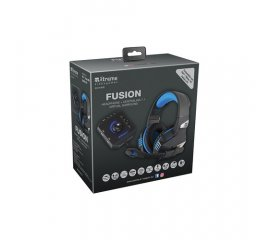 XTREME CUFFIE GAMING FUSION + SOUND BOX 7.1 BLU/NERO