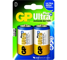 GP BATTERY ULTRA PLUS BATTERIA D TORCIA ALCALINA 1.5V CONF. 2 PZ.