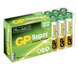 GP BATTERY SUPER BATTERIA MINI STILO AAA ALCALINA CONF. 16 PZ.