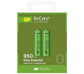 GP BATTERY RECYKO BATTERIA MINI STILO AAA RICARICABILE NiMH 950mAh CONF. 2 PZ.